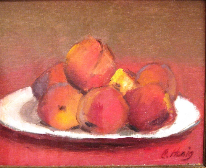 celia honig painting of peaches