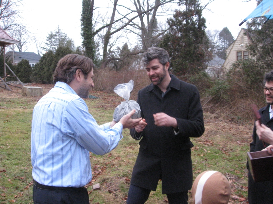 Adam Honig and Nol Honig scattering the ashes