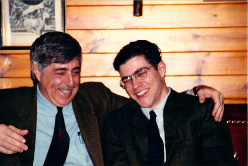 Alan and Nol laughing