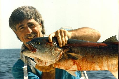 Alan Honig with fish