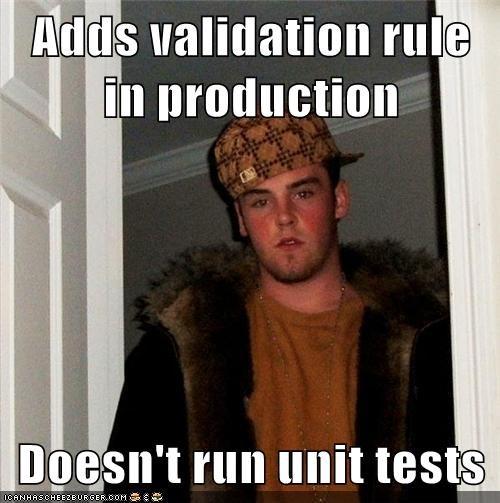 doesnt run unit tests