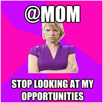 mom looking at opportunities