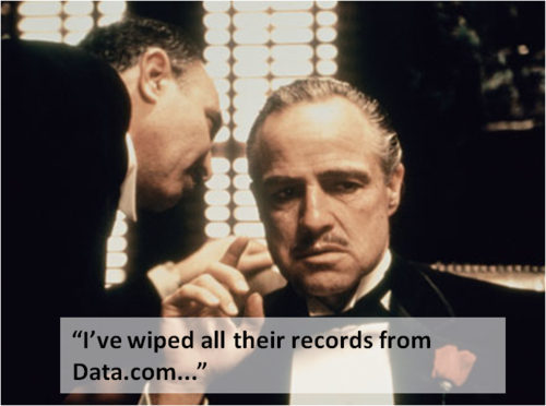 wiped data from data dot com