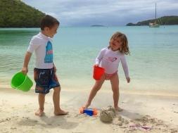 Cute kids on the beach