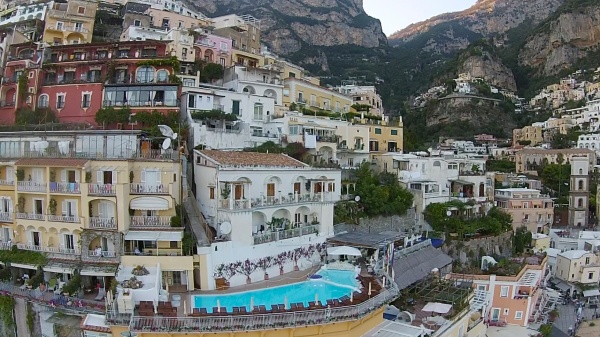Positano Balconies from the Drone