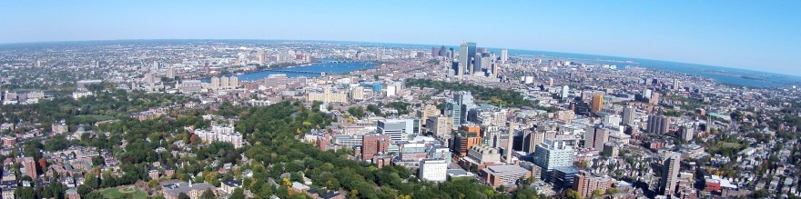 You're seeing Boston University, the Charles River, Longwood Medical area and downtown Boston.