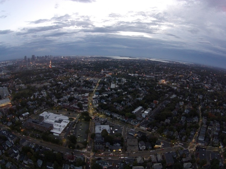 Looking West from Jamaica Plain