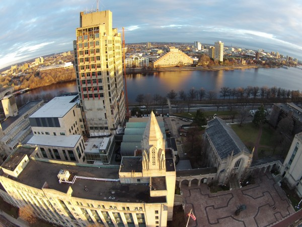 BU Law Tower and Marsh Plaza