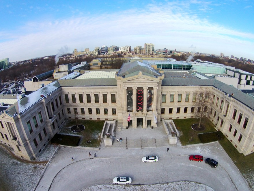 Boston's Museum of Fine Arts as seen from my drone