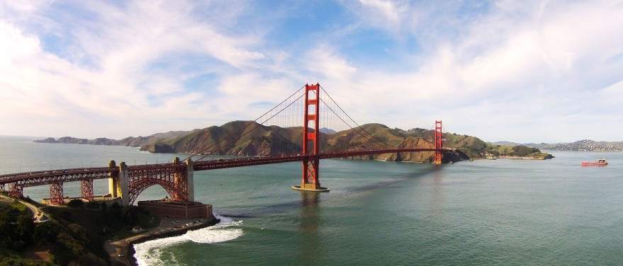 The Golden Gate Bridge from the Drone