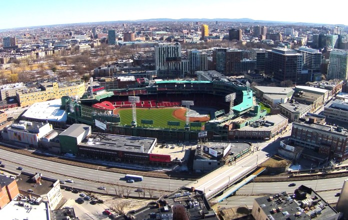 Fenway Park looks ready for baseball.