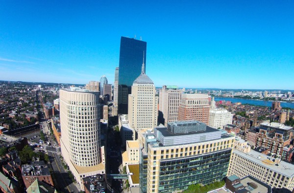 Copley as seen from the air over Park Plaza